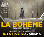 Royal Opera House: LA BOHÈME | Mar 3 Ottobre | ore 20.15