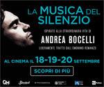evento ANDREA BOCELLI: LA MUSICA DEL SILENZIO all'MPX | 18-19-20 Settembre